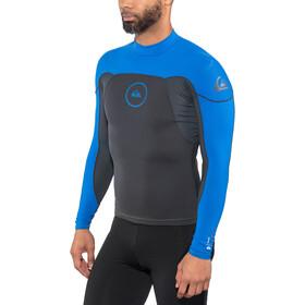 Quiksilver 1mm Syncro Series Haut de surf à manches longues en néoprène Homme, graphite/black/deep cyanine